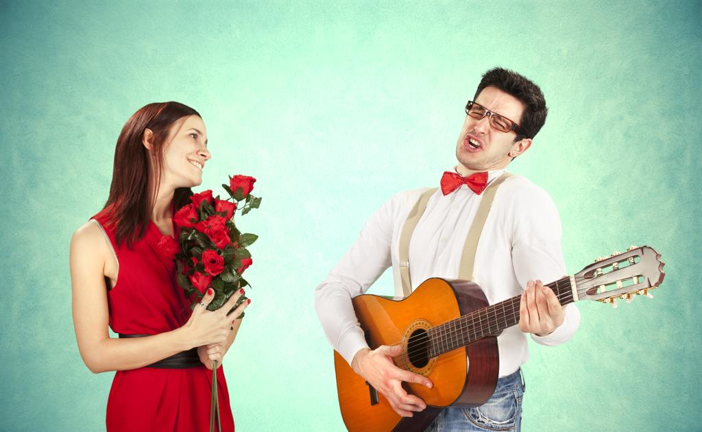 фотография влюбленного мужчины с гитарой