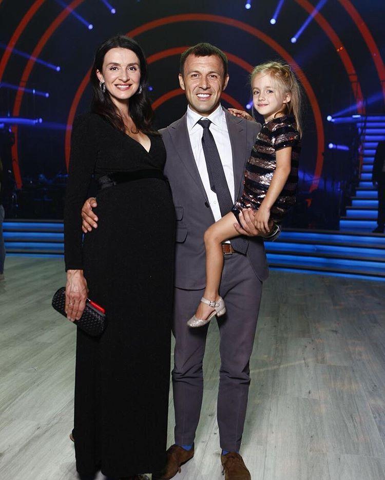 Валентина Хамайко с мужем и дочкой